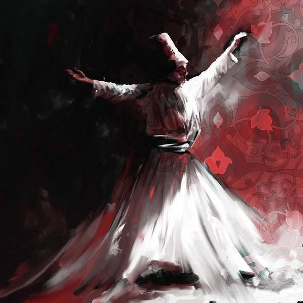 Circular Painting - Painting 716 5 Sufi Whirl II by Mawra Tahreem