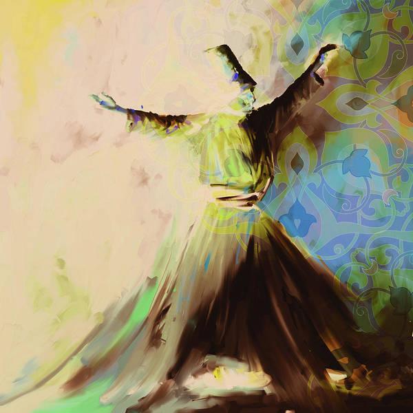 Wall Art - Painting - Painting 716 6 Sufi Whirl II by Mawra Tahreem