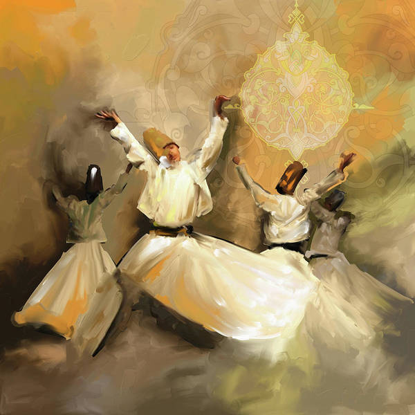 Wall Art - Painting - Painting 717 3 Sufi Whirl 3 by Mawra Tahreem