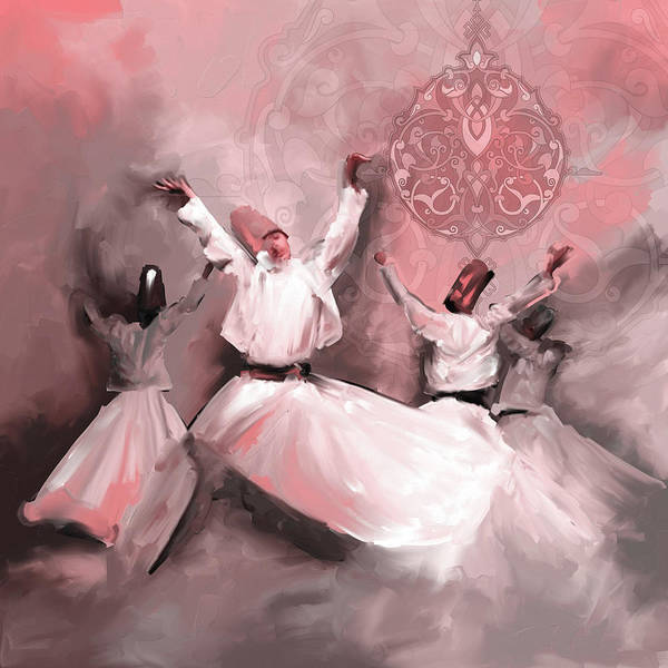 Wall Art - Painting - Painting 717 4 Sufi Whirl 3 by Mawra Tahreem