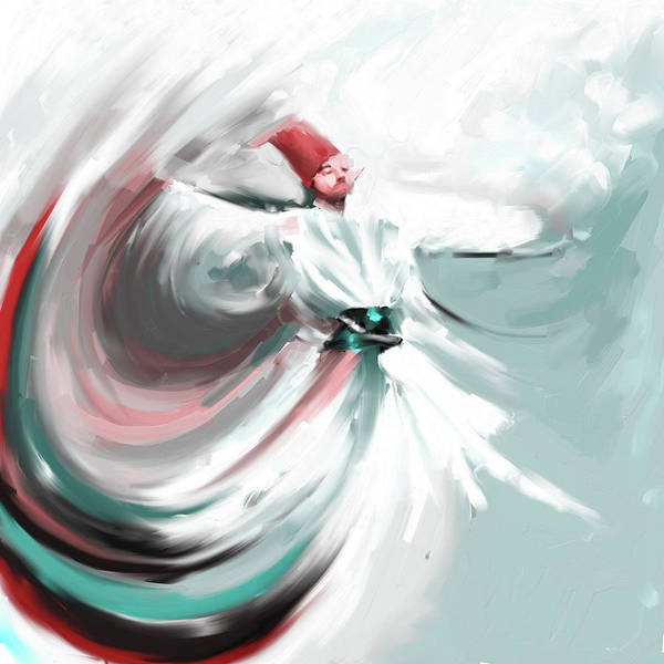 Wall Art - Painting - Painting 719 3 Sufi Whirl 5 by Mawra Tahreem
