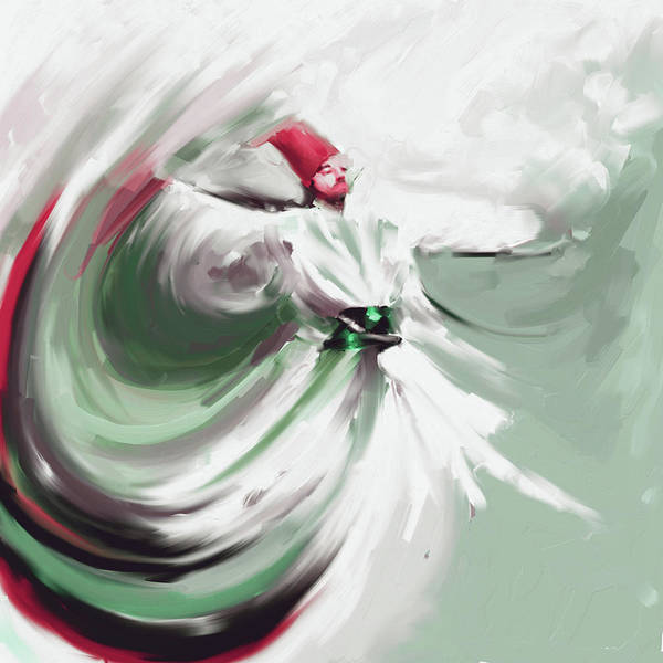 Wall Art - Painting - Painting 719 4 Sufi Whirl 5  by Mawra Tahreem