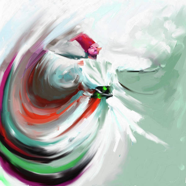 Wall Art - Painting - Painting 719 5 Sufi Whirl 5 by Mawra Tahreem