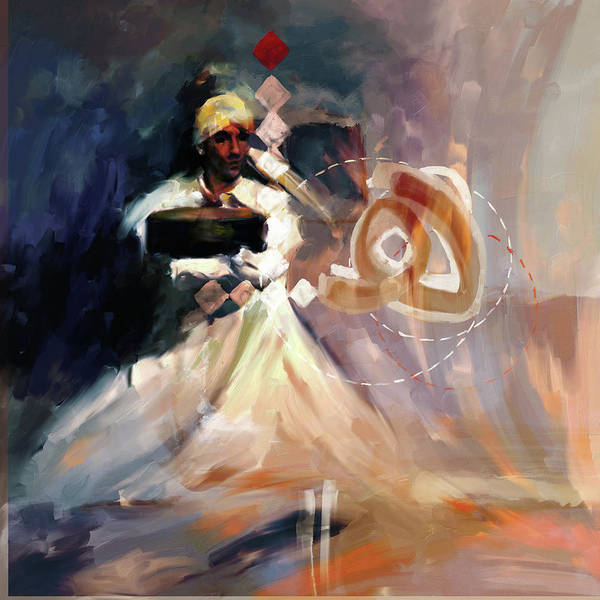 Wall Art - Painting - Painting 726 3 Sufi Whirl 13 by Mawra Tahreem