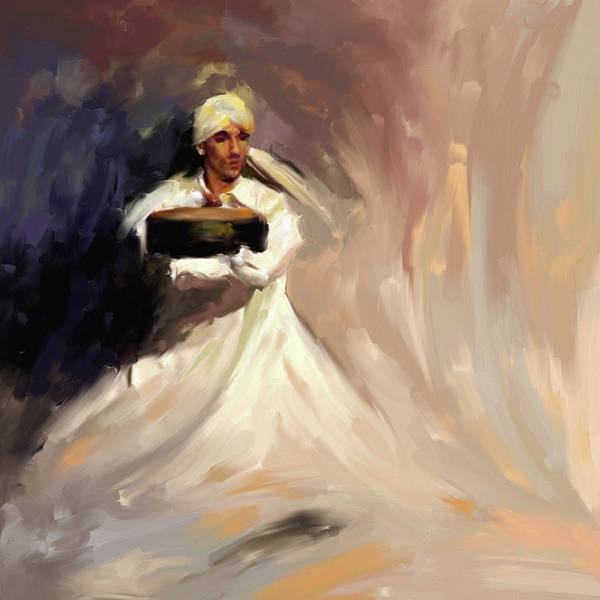 Wall Art - Painting - Painting 726 Sufi Whirl 13 by Mawra Tahreem