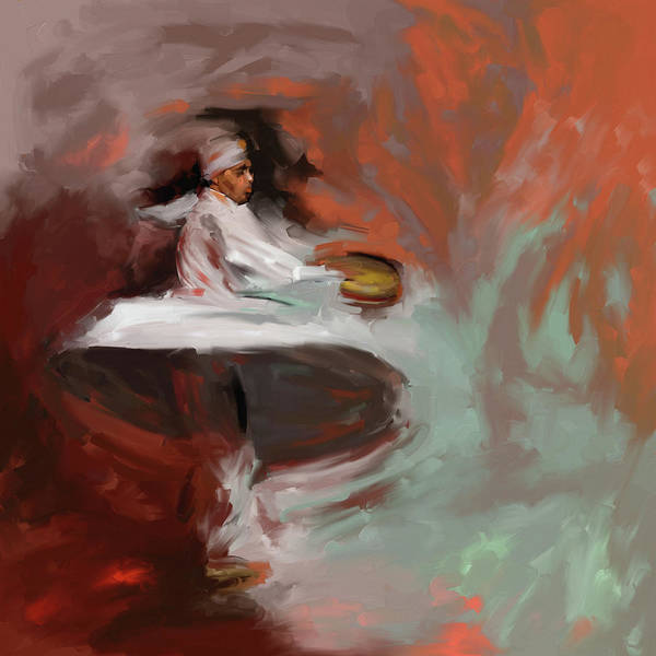 Wall Art - Painting - Painting 727 1 Sufi Whirl 14 by Mawra Tahreem