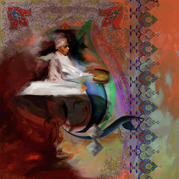 Wall Art - Painting - Painting 727 3 Sufi Whirl 14 by Mawra Tahreem