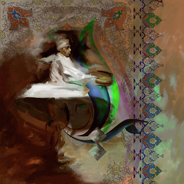 Wall Art - Painting - Painting 727 4 Sufi Whirl 14 by Mawra Tahreem