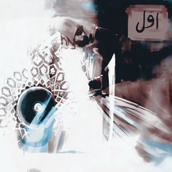 Wall Art - Painting - Painting 729 5 Sufi Whirl 16 by Mawra Tahreem