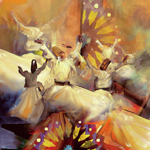 Wall Art - Painting - Painting 731 Sufi Whirl 18 by Mawra Tahreem
