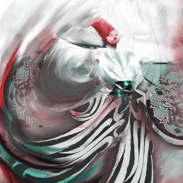 Wall Art - Painting - Painting 732 2 Sufi Whirl 19 by Mawra Tahreem
