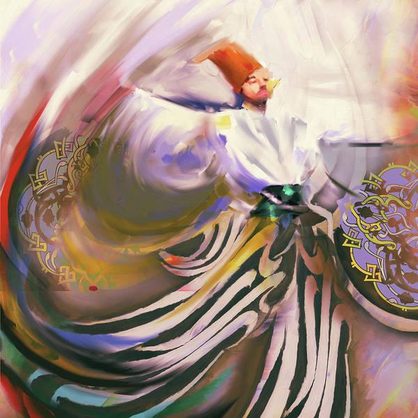 Wall Art - Photograph - Painting 732 1 Sufi Whirl 19 by Mawra Tahreem
