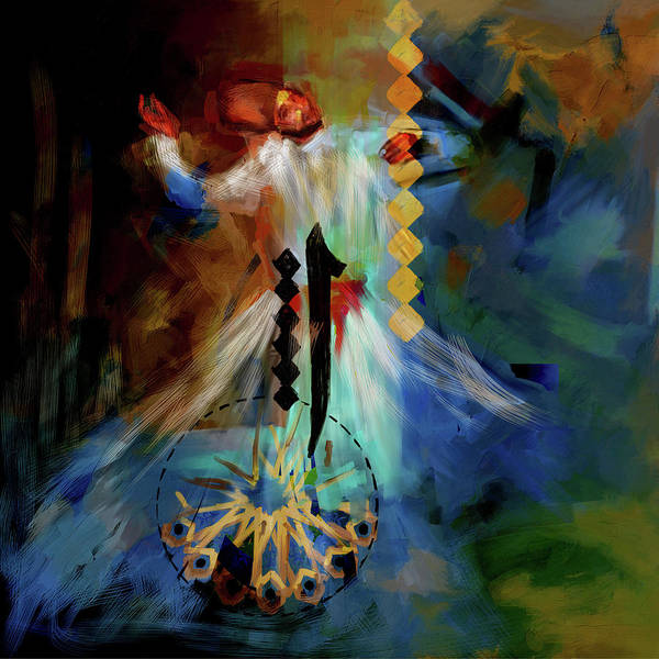 Wall Art - Painting - Painting 733 2 Sufi Whirl 20 by Mawra Tahreem
