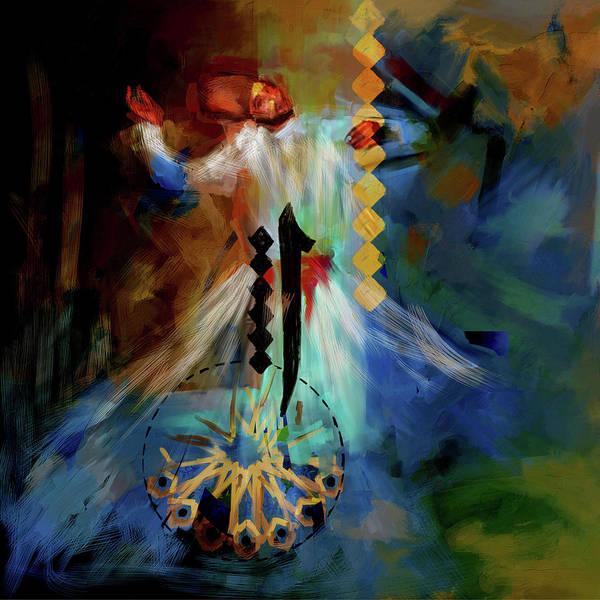 Circular Painting - Painting 733 2 Sufi Whirl 20 by Mawra Tahreem
