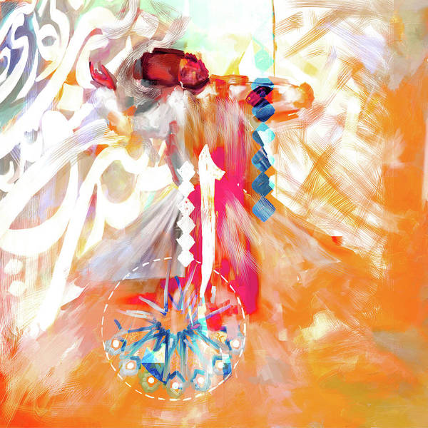 Wall Art - Painting - Painting 733 3 Sufi Whirl 20 by Mawra Tahreem