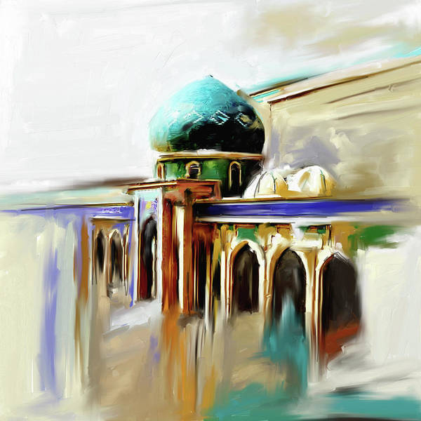 Wall Art - Painting - Painting 749 1 Jalil Khayat Mosque by Mawra Tahreem