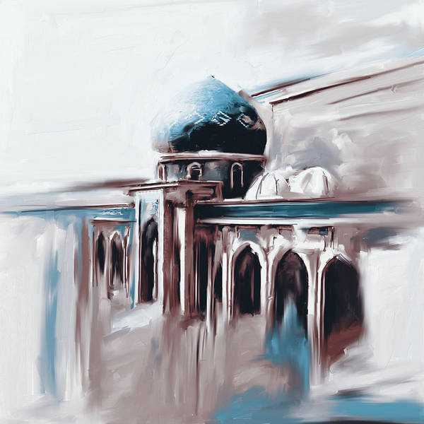 Wall Art - Painting - Painting 749 2 Jalil Khayat Mosque by Mawra Tahreem