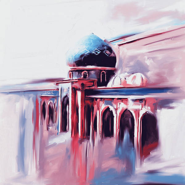 Wall Art - Painting - Painting 749 3 Jalil Khayat Mosque by Mawra Tahreem