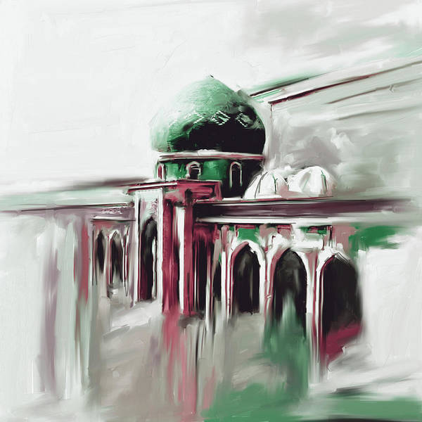 Wall Art - Painting - Painting 749 4 Jalil Khayat Mosque by Mawra Tahreem