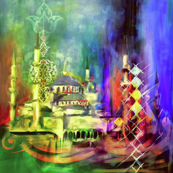 Wall Art - Painting - Painting 756 1 Sultan Ahmet Mosque by Mawra Tahreem
