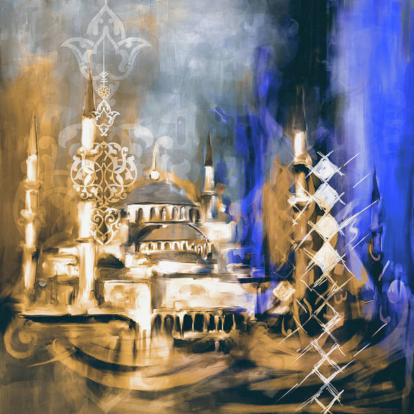 Wall Art - Painting - Painting 756 2 Sultan Ahmet Mosque by Mawra Tahreem