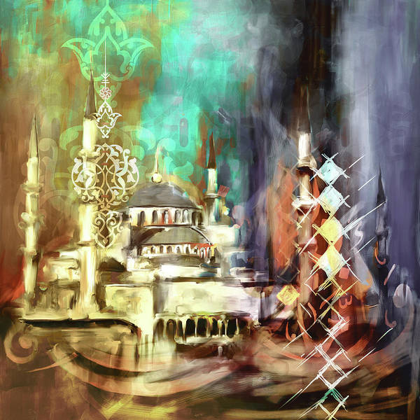 Wall Art - Painting - Painting 756 4 Sultan Ahmet Mosque by Mawra Tahreem