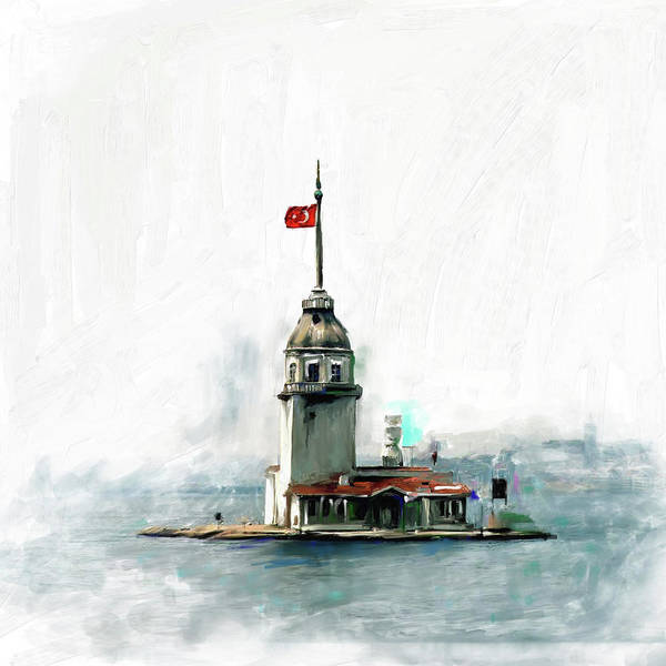 Wall Art - Painting - Painting 757 1 Maiden's Tower by Mawra Tahreem