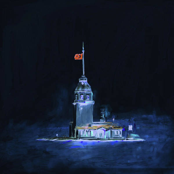 Wall Art - Painting - Painting 757  3 Maiden Tower by Mawra Tahreem