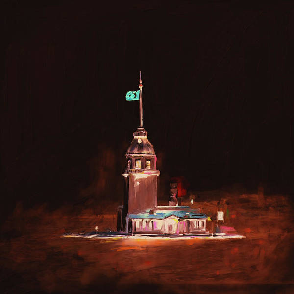 Wall Art - Painting - Painting 757 5 Maiden Tower by Mawra Tahreem
