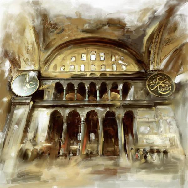 Wall Art - Painting - Painting 758 3 Hagia Sophia by Mawra Tahreem