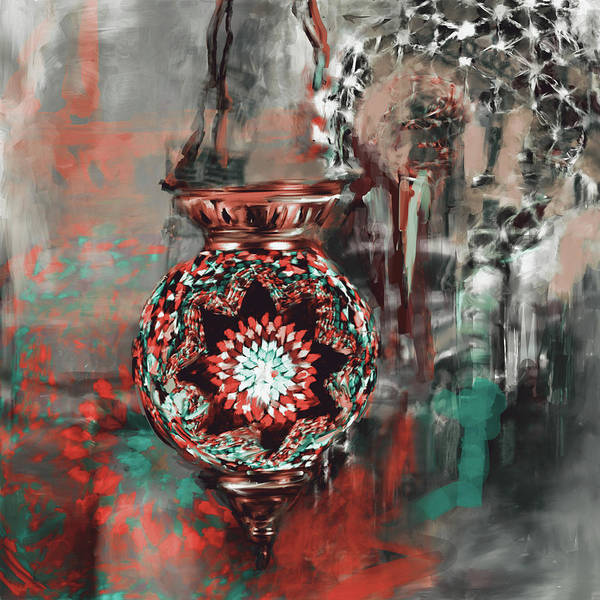 Culture Painting - Painting 759 3 Turkish Glass Mosaics by Mawra Tahreem
