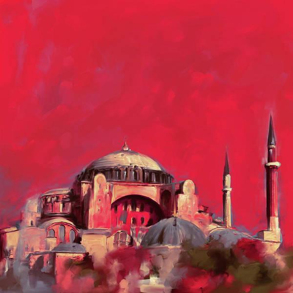 Wall Art - Painting - Painting 760 3 Hagia Sophia by Mawra Tahreem