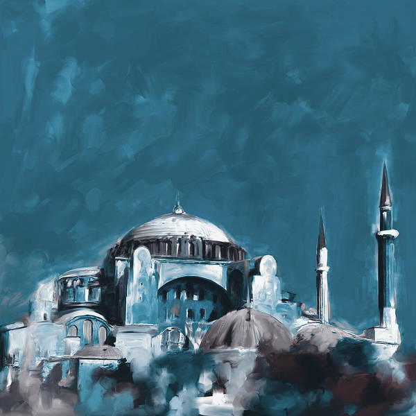 Wall Art - Painting - Painting 760 4 Hagia Sophia by Mawra Tahreem