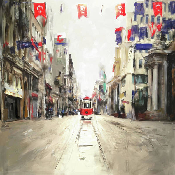 Wall Art - Painting - Painting 761 1 Istiklal Street by Mawra Tahreem
