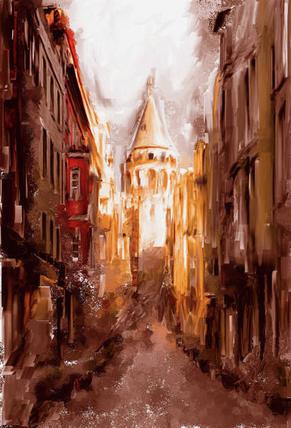 Istanbul Painting - Painting 764 2 Galata Tower by Mawra Tahreem