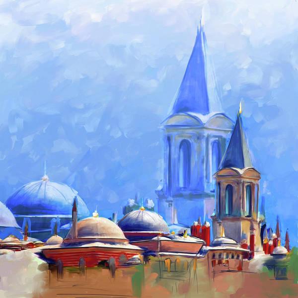 Wall Art - Painting - Painting 766 2 Hagia Sophia by Mawra Tahreem