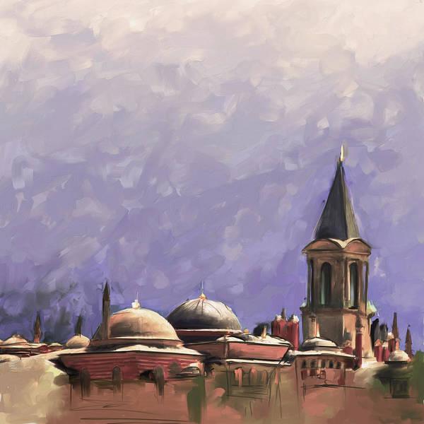 Wall Art - Painting - Painting 766 4 Hagia Sophia by Mawra Tahreem