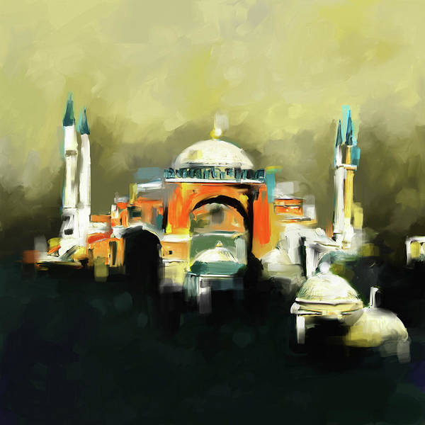 Wall Art - Painting - Painting 768 1 Hagia Sophia by Mawra Tahreem