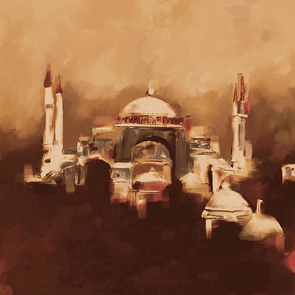 Wall Art - Painting - Painting 768 5 Hagia Sophia by Mawra Tahreem