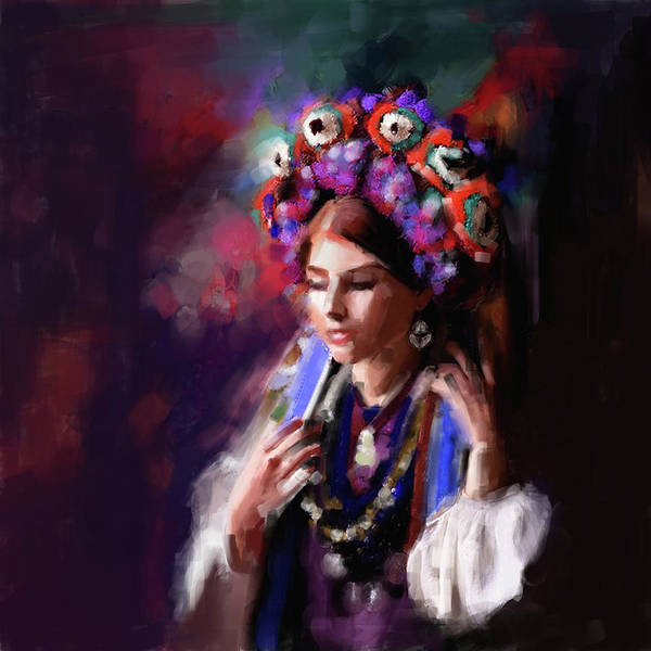 Wall Art - Painting - Painting 770 1 Turkish Woman by Mawra Tahreem