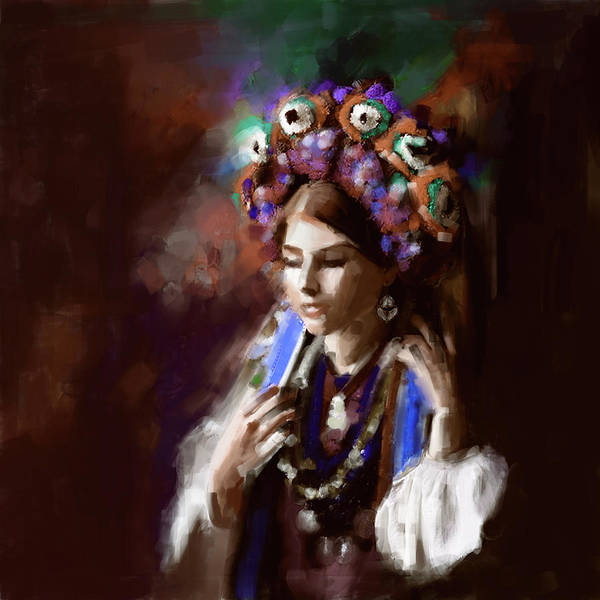 Wall Art - Painting - Painting 770 3 Turkish Woman by Mawra Tahreem