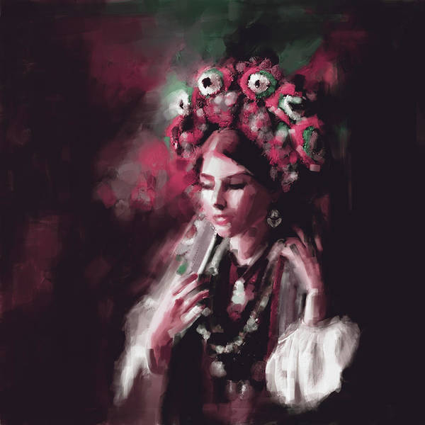 Wall Art - Painting - Painting 770 4 Turkish Woman by Mawra Tahreem