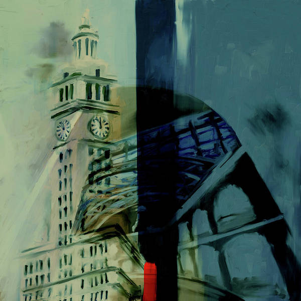 Wall Art - Painting - Painting 772 2 Wrigley Building by Mawra Tahreem