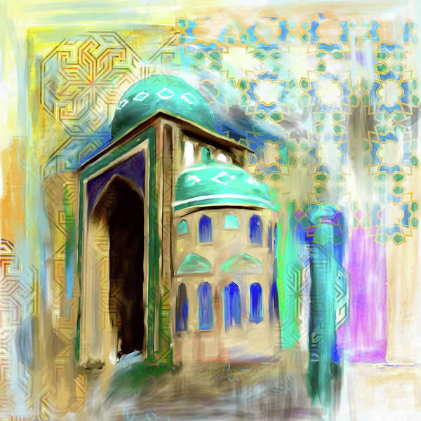 Wall Art - Painting - Painting 774 1 Jalil Khyat Mosque by Mawra Tahreem