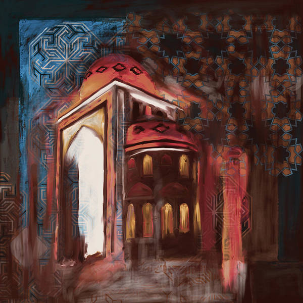 Wall Art - Painting - Painting 774 3 Jalil Khayat Mosque by Mawra Tahreem