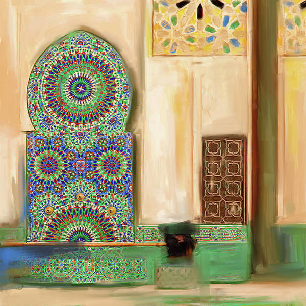 Wall Art - Painting - Painting 777 1 Zellige by Mawra Tahreem