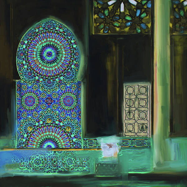 Wall Art - Painting - Painting 777 2 Zellige by Mawra Tahreem