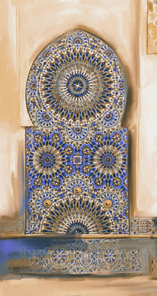 Wall Art - Painting - Painting 777 3 Zellige by Mawra Tahreem