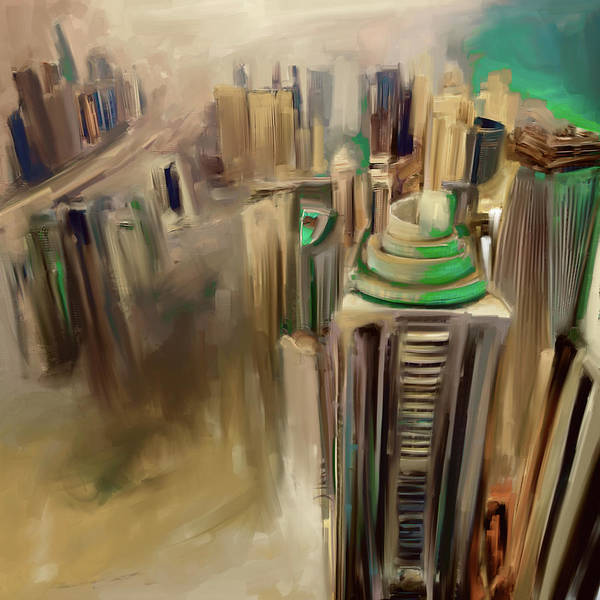 Wall Art - Painting - Painting 778 4 Dubai Skyline by Mawra Tahreem