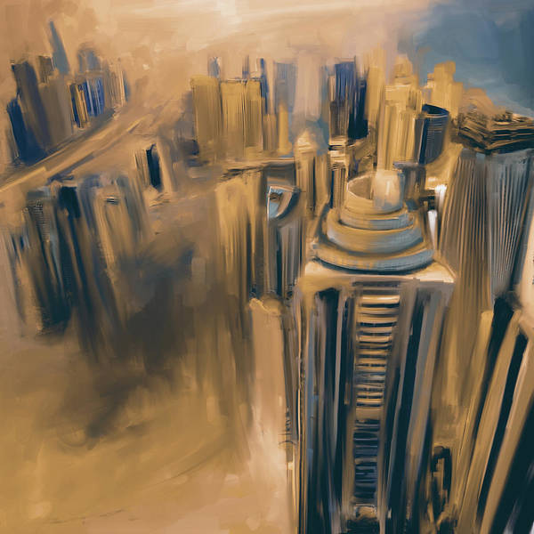 Wall Art - Painting - Painting 778 5 Dubai Skyline by Mawra Tahreem